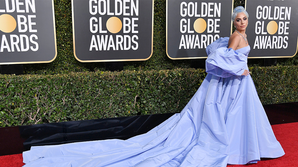 Lady Gaga Rules Colorful Golden Globes Red Carpet