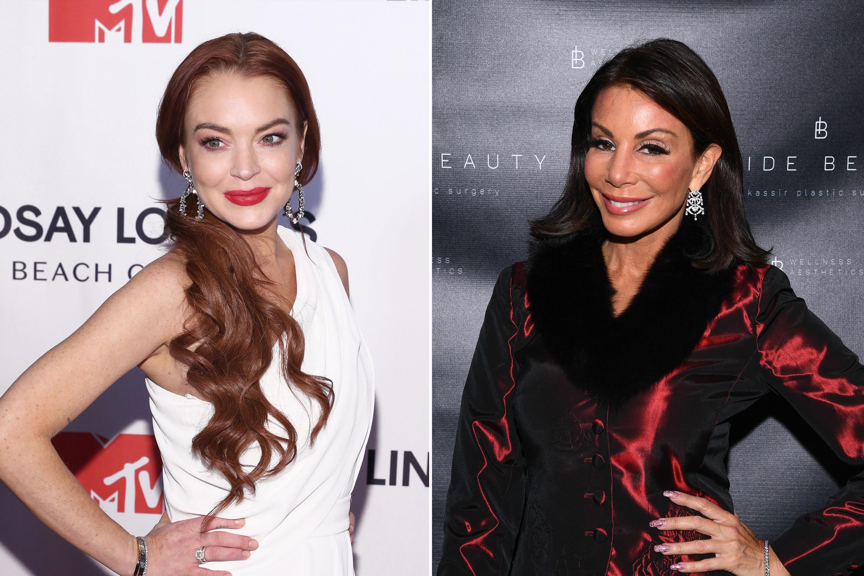 Lindsay Lohan scoffs at Danielle Staub's 'glam squad'