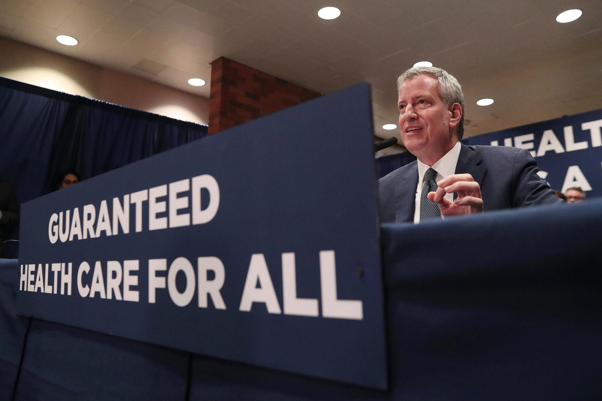 De Blasio's 'universal' health care is one big con