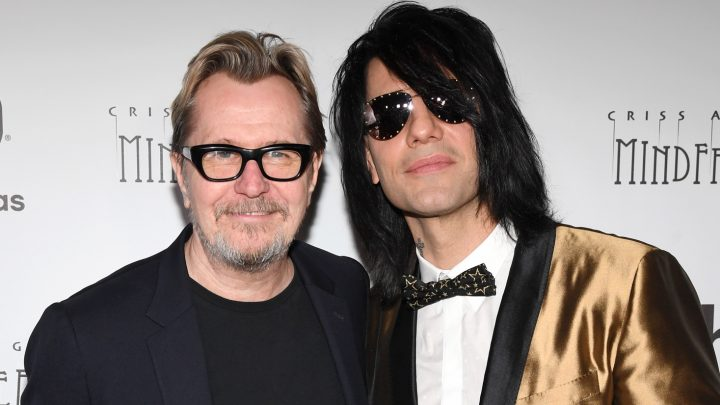 Gary Oldman Supports Criss Angel at Vegas Show Opening