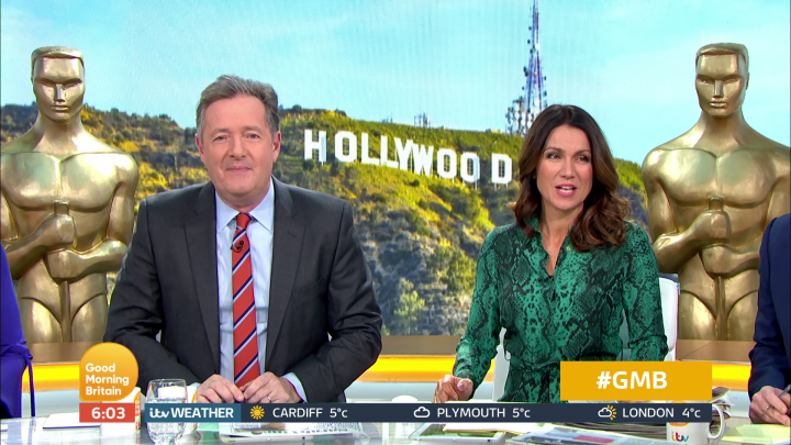 Piers Morgan and Susanna Reid will host GMB live from Hollywood on Oscars night as they promise to 'hit the after-parties hard'