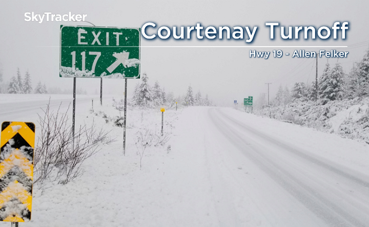 Snowfall warnings hit the South Coast, travel impacted on Vancouver Island