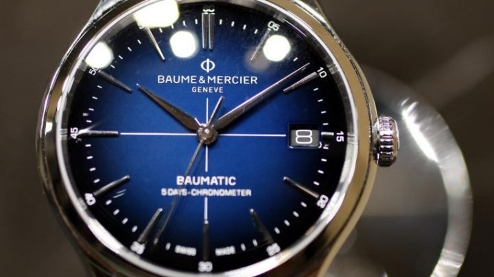 Watchmakers' blaze of blue at Geneva fair