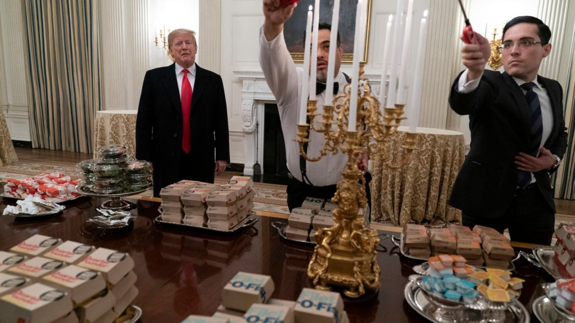 This Dude Really Served Clemson Boxed-Up Fast Food On A Bunch Of Fancy Trays
