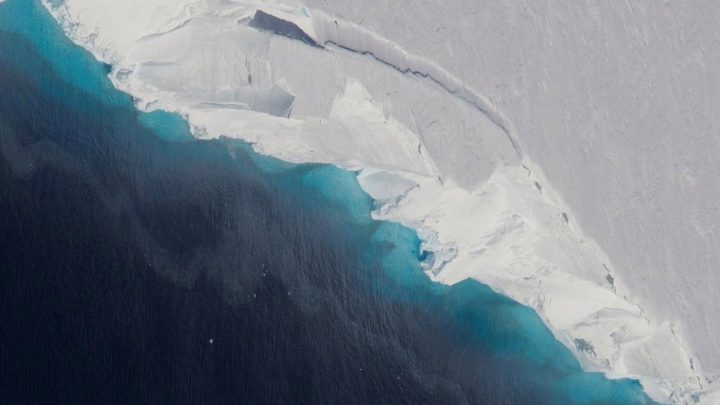 Hole almost the size of Manhattan discovered under Antarctic glacier