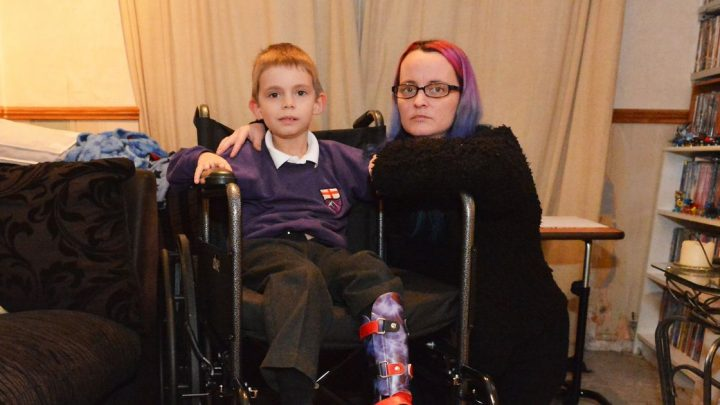 Disabled boy told 'you can put one foot in front of other' before benefits axed