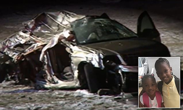 Five children riding in the back of a car without seatbelts are killed