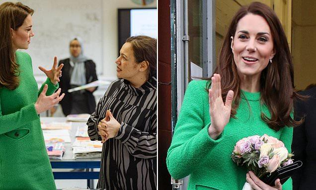 Kate Middleton meets World's Best Teacher Andria Zafirakou