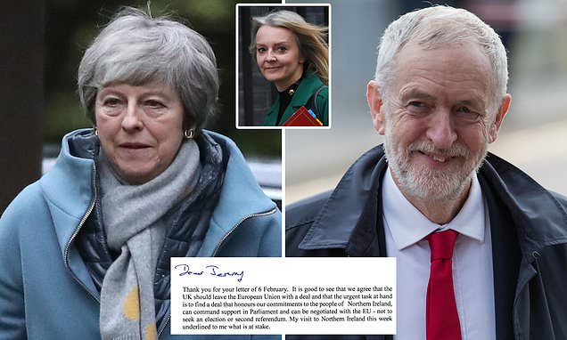 May refuses to rule out staying in Customs Union in letter to Corbyn