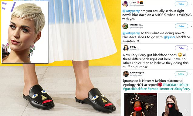 Katy Perry's 'blackface' shoes are to be pulled from retailers