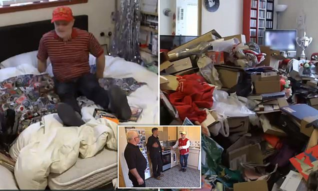 Call the cleaners: Dad and son duo shocked at obsessive shopper'