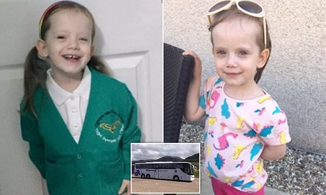 Three-year-old girl was trapped on a bus for FIVE hours