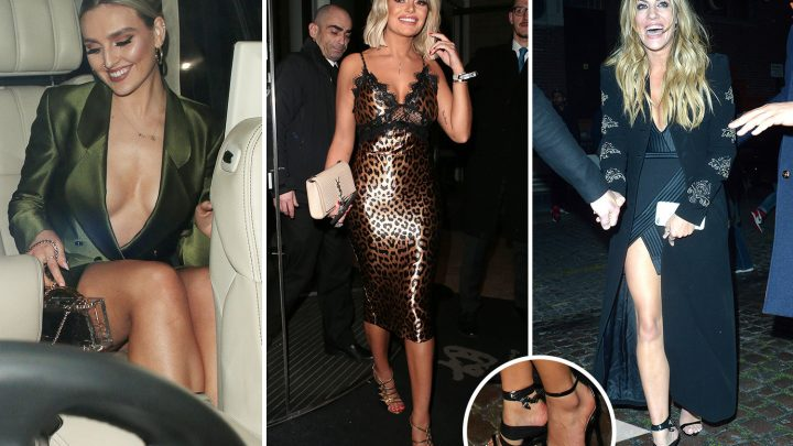 Brits 2019: Bleary-eyed Little Mix lead partied out stars as Caroline Flack makes unglamorous exit in gaffer-taped heels