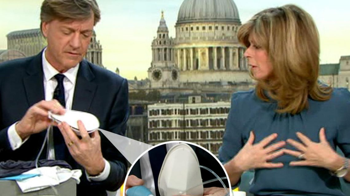 Richard Madeley demonstrates new breastfeeding pump for MEN on Good Morning Britain