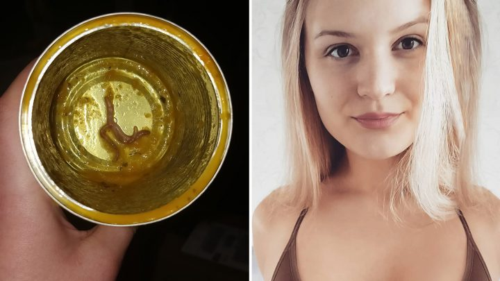 Horrified woman discovers 'worms' at bottom of Heinz can AFTER she ate the soup