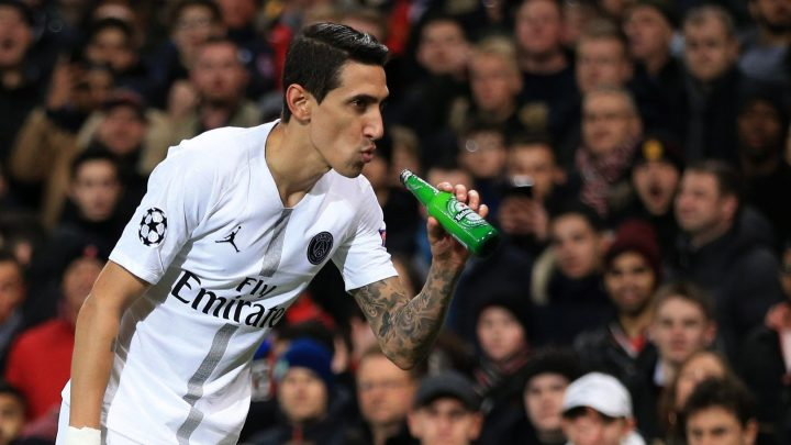 Man Utd charged by Uefa after fans throw beer bottle at Di Maria against PSG