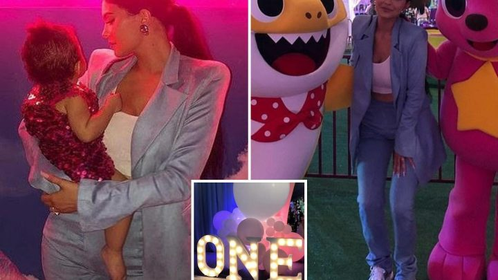 Inside Kylie Jenner's daughter Stormi's epic first birthday party as mum creates Stormiworld complete with carousel, Baby Shark and bubble room