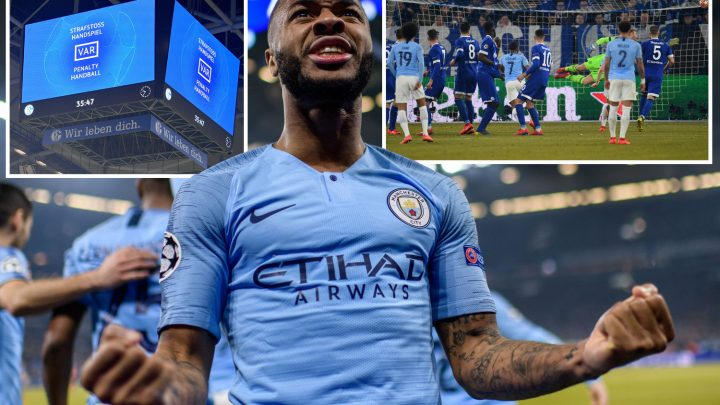 Sane and Sterling stun Schalke as ten-man City battle back from ex-Spurs star Bentaleb's two penalties on controversial, VAR-fuelled night