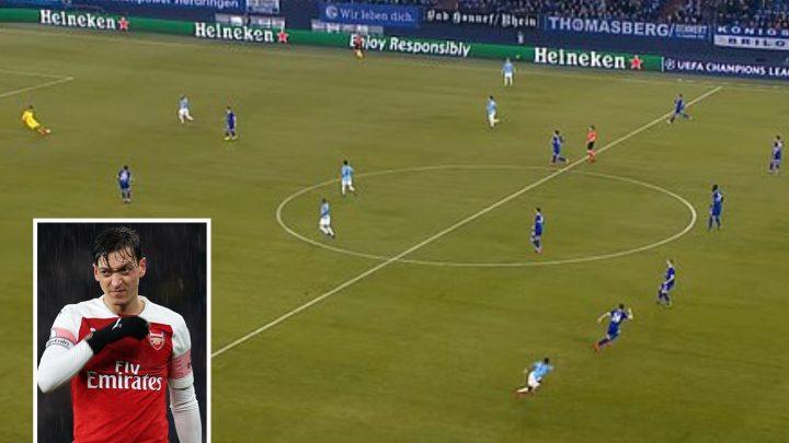Man City keeper Ederson now has as many assists as Mesut Ozil this season