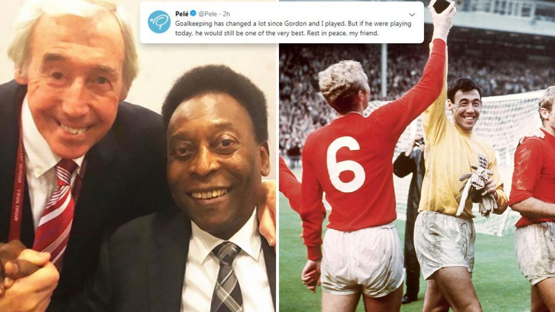 Gordon Banks tributes: Pele and Germany pay respects to England legend who has died aged 81