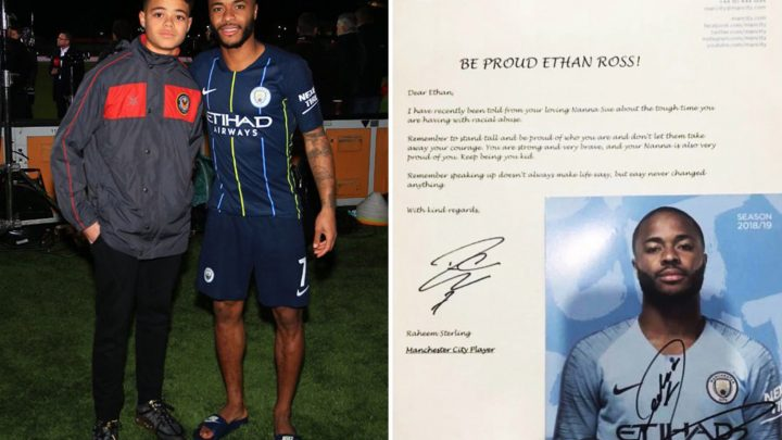 Sterling stays after Cup win to meet 13-year-old lad who Man City star supported after racist abuse