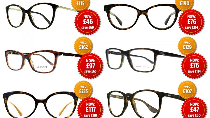 Get 70% off designer specs including Ray-Ban, Gucci and Ralph Lauren