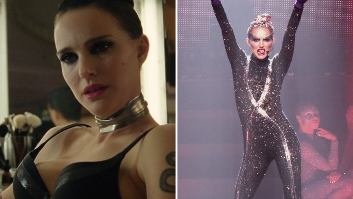 Natalie Portman sizzles in a black bra as she transforms into a pop superstar for new flick Vox Lux