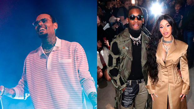 Chris Brown Takes Offset Feud To Another Level By Dragging Cardi B Into It: 'Ima Send Ya Girl Flowers'