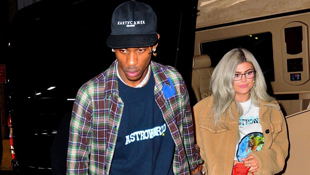 Kylie Jenner Has Legs For Days In Thigh-High Slit Gown For Pre-Grammys Party With Travis Scott