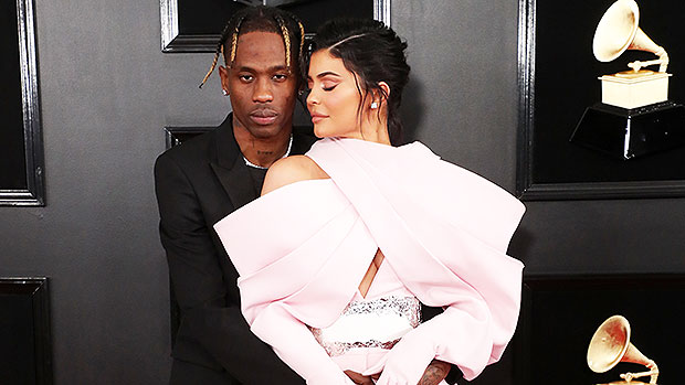 Kylie Jenner Rocks Insane Pink Jumpsuit While Supporting Travis Scott At Grammy Awards