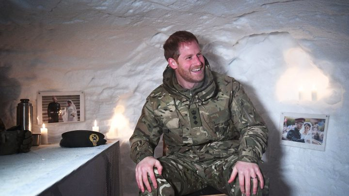 Prince Harry Surprised with Igloo Decorated with Photos from Wedding —and His Reaction Is Hilarious