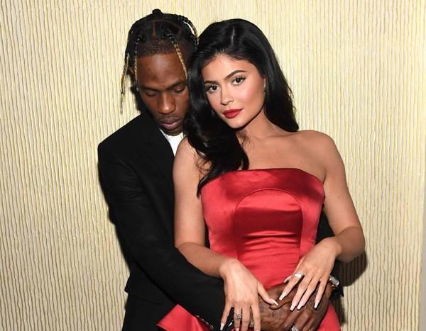 Kylie Jenner Supports Travis Scott at Clive Davis' Pre-Grammy Gala