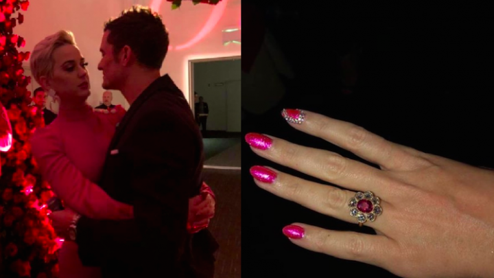 Katy Perry and Orlando Bloom Got Engaged on Valentine's Day and Her Ring Is EVERYTHING