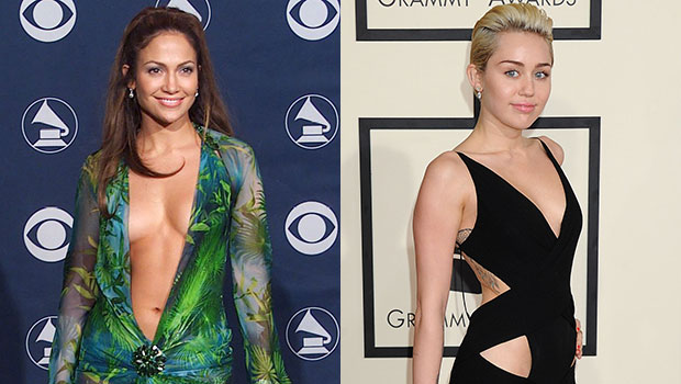 28 Sexiest Grammys Dresses Of All-Time: J.Lo, Miley Cyrus & More