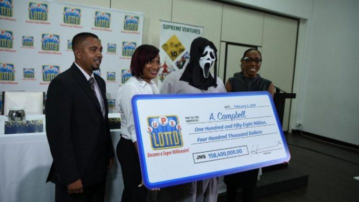 Lottery winner in Jamaica shows up in 'Scream' mask to claim million-dollar prize