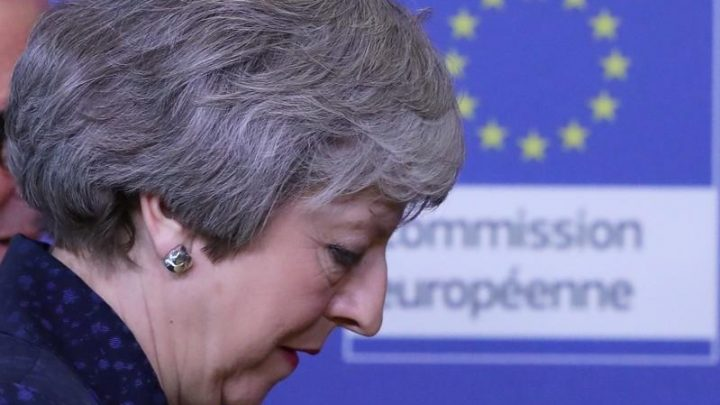 British PM May takes demand for Brexit renegotiation to Brussels