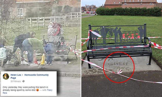 Mothers slammed for vandalising bench commemorating World War I heroes