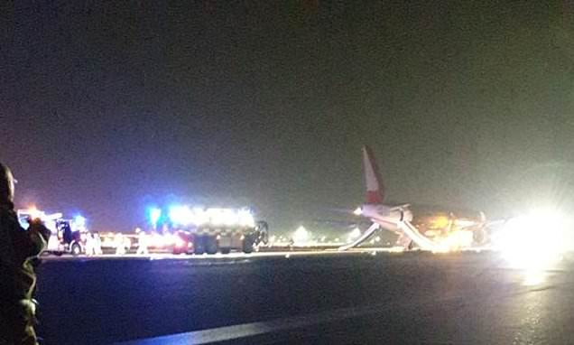 Stansted Airport runway is closed as passenger aircraft is evacuated