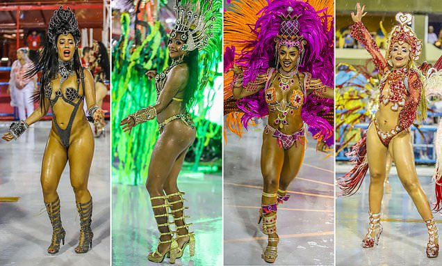 Carnival 2019: Brazilian dancers show off their colourful costumes
