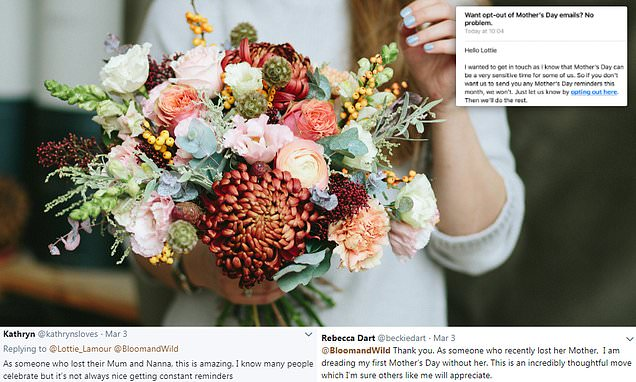 Twitter praises flower company for thoughtful Mother's Day email