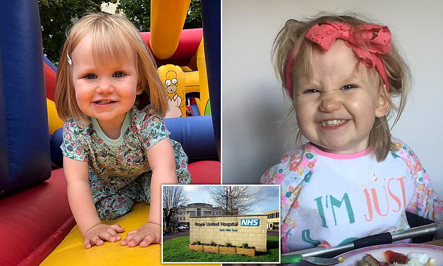 Pictured: Girl, two, who collapsed and died from sepsis