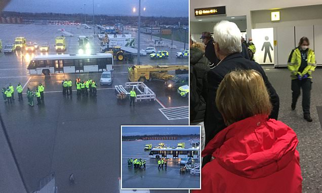 Passengers 'quarantined' at Gatwick after five crew members fall ill