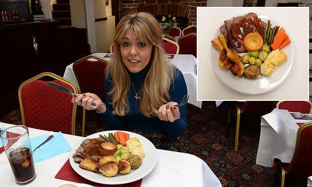 FEMAIL tries Britain's cheapest £1 roast dinner at The Britannia pub