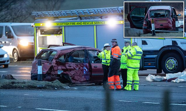 Three are killed and four others rushed to hospital after crash