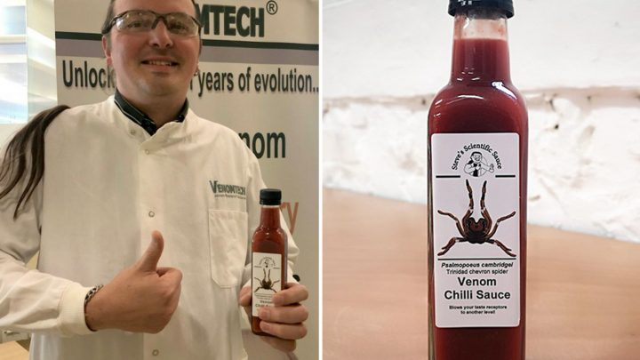Scientists create 'venomous' chilli sauce to mimic spider bite that 'causes muscle spasms and burning pain'