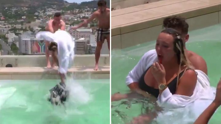 Charlotte Crosby screams in agony as she breaks nose in painful swimming pool accident
