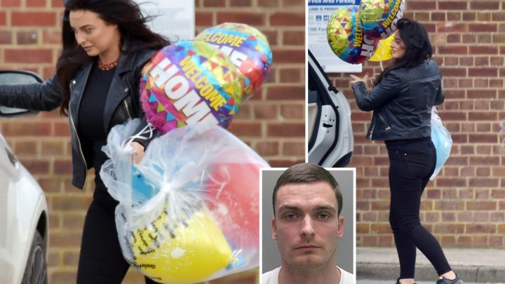 Adam Johnson's sister spotted with Welcome Home balloons ahead of paedo footballer's jail release