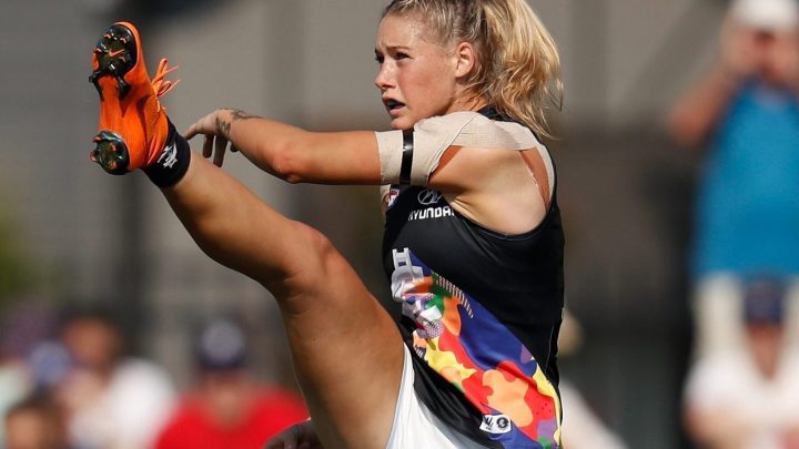 Australian Prime Minister brands trolls 'cowardly grubs' for 'sexually abusing' Aussie Rules star Tayla Harris over snap