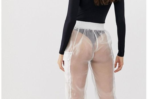 Baffled ASOS shoppers ask 'what is the point' of brand's £40 see-through combat trousers which leave NOTHING to the imagination