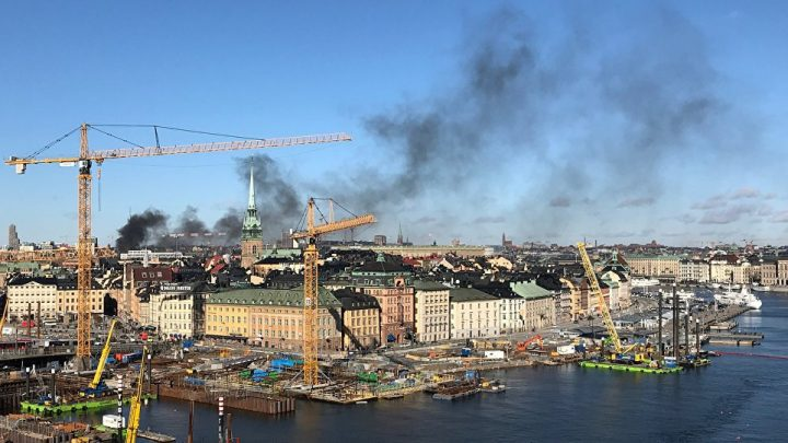 Sweden explosion sees five people injured after massive blast rocks hotel and buildings in Stockholm